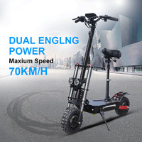 2600W Adult Electric Scooter with seat foldable hoverboard Battery 11 inch fat tire electric motorcycle kick scooter e scooter|Electric Scooters| |  -