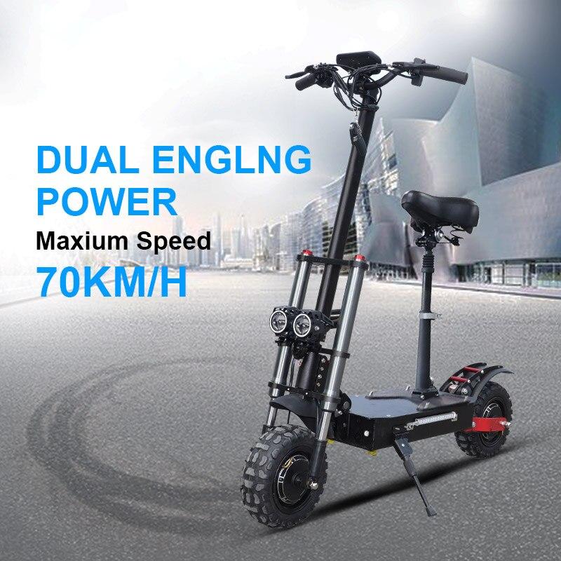2600W adulte Scooter électrique avec siège pliable hoverboard batterie 11 pouces gros pneu électrique moto coup de pied scooter e scooter