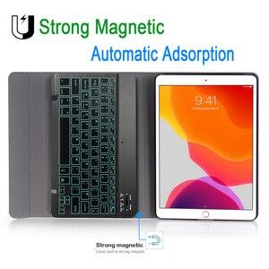 Image 5 - Чехол с клавиатурой для iPad 10,2, 7 цветов, с подсветкой, 3,0, Bluetooth, чехол для Apple iPad 7, 7 го поколения, A2200, A2198, A2197