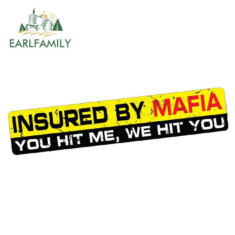 INSURED BY MAFIA sticker decal INSURANCE funny bumper window truck JDM RUSSIA