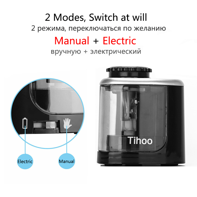 Electric Auto Pencil Sharpener Touch Switch Pencil Sharpener For 6-8mm Pencil and Color Pencil School Office Home Stationery 2