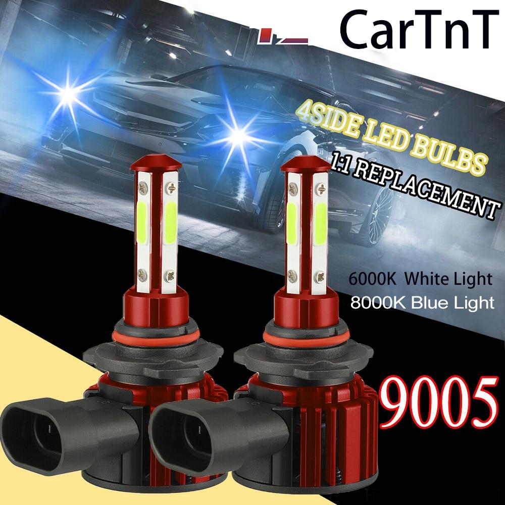 Cartnt 2 pçs led 20000lm carro farol lâmpadas h7 h8 h9 h11 faróis 9005 hb3 9006 hb4 lâmpadas de automóvel 6000k 8000k lâmpada led farol