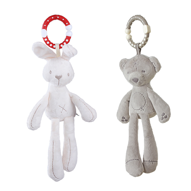 Mamibeby Infant Pendant Rabbit/Bear Wind Chime Bed Hanging Bell Comforter Toys Early Childhood Educational Toy