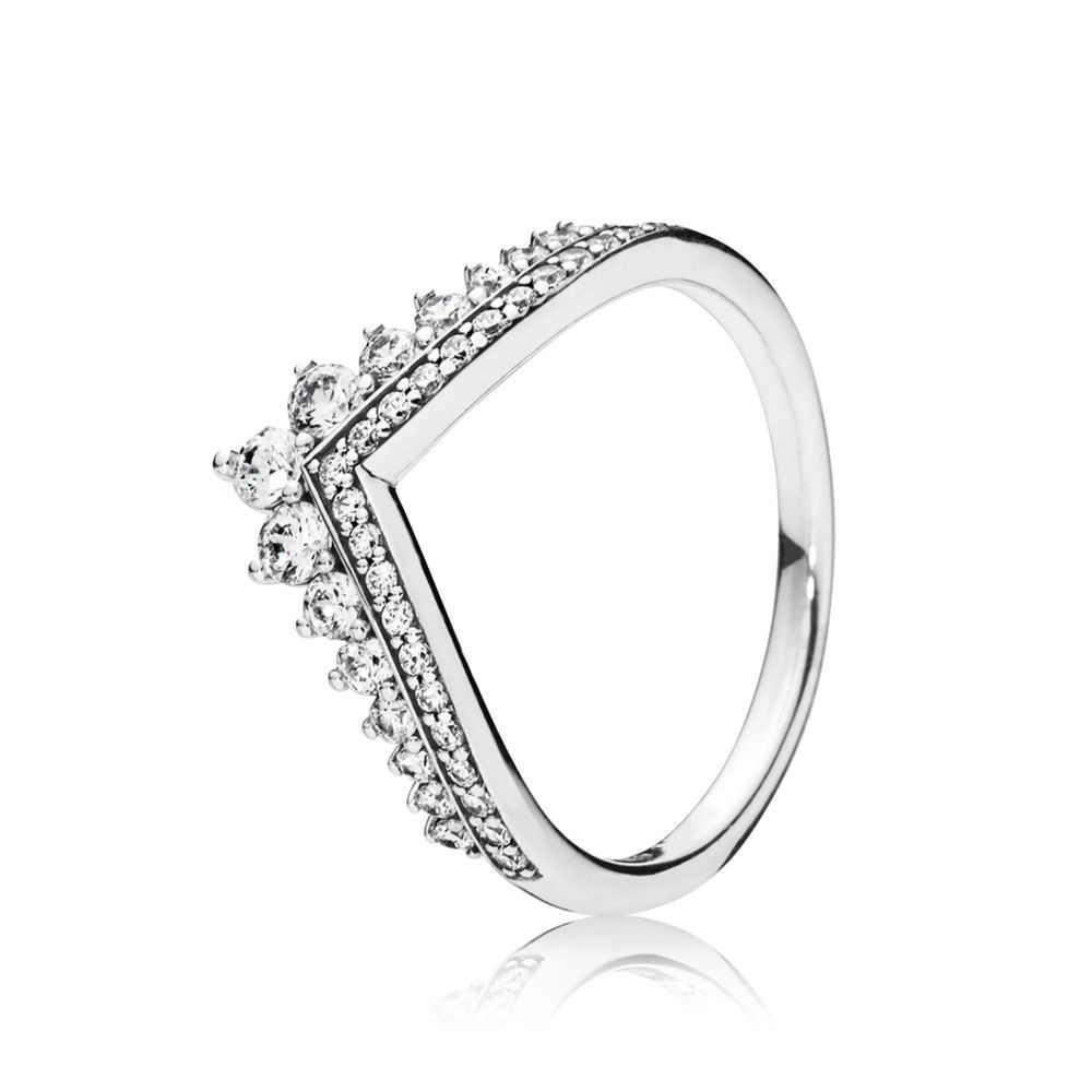 925 Anelli D'argento Con Oro Rosa Classic bow-nodo Libellula Del Cuore di Amore di Cristallo Rotondo Anello di Barretta Per I Monili Delle Donne