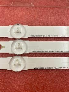 Image 2 - Nouveau 27 pièces/ensemble LED bande de rétro éclairage Pour Samsung UN75MU6300 UN75JU6500 V5DU 750DCA R1 750DCB 750DCC R1 BN96 34763A 34764A 34765A