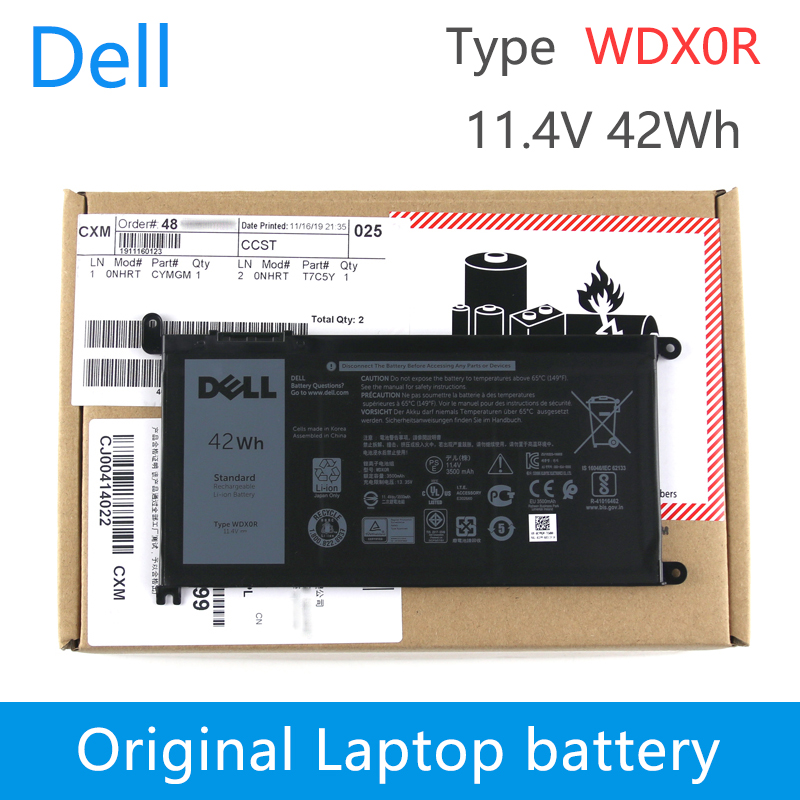 Dell Original Laptop Battery For Dell Inspiron 7460 7569 15  5578 5565 7472 7572 Latitude 14 3480 Vostro 5468 5568 11.4V ONHRT