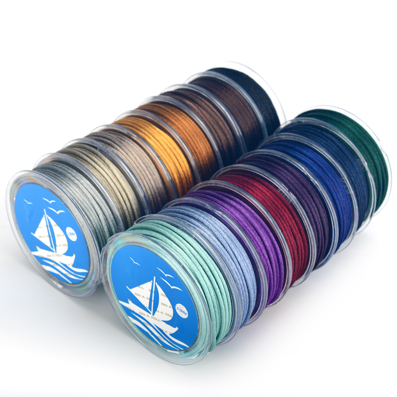 2mm Soft Satin Rattail Silk Macrame Cord DIY Chinese Knot Bracelet Necklace Jewelry Finding   6/roll