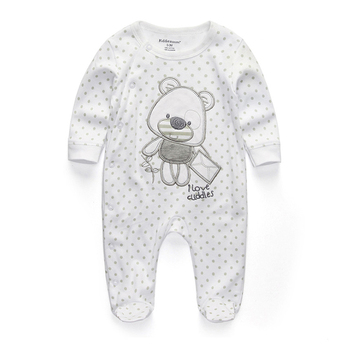 0-12Months Baby Rompers Newborn Girls&Boys 100%Cotton Clothes of Long Sheeve 1/2/3Piece Infant Clothing Pajamas Overalls Cheap - RFL1021, 3M
