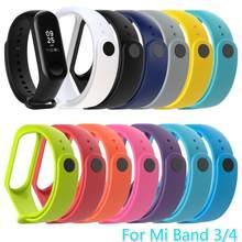 Pulseira para xiaomi mi banda 3 4 pulseira relógio de banda à prova dwaterproof água relógio inteligente para miband 4 3 cinta de fitness substituição txtb1