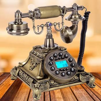 European Vintage Telephone Swivel Plate Rotary Dial Telephone Antique Telephones Landline Phone For Office Home Hotel Decor
