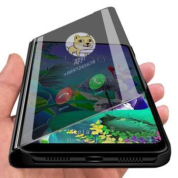 smart mirror flip phone case for lg q60 k50 v30 v35 thinq v35thinq 60q 50k 30v 35v cases cover on lgq60 lgk50 lgv30 lgv35 coques