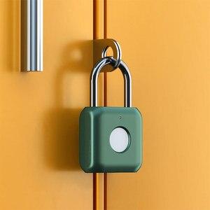 Image 3 - Умный дверной замок Youpin Kitty со сканером отпечатков пальцев, USB зарядка, без ключа, защита от кражи, навесной замок, Дорожный Чехол, ящик, замок безопасности