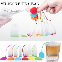1PCS Hot Selling Bag Style Silicone Tea Strainer Herbal Spice Infuser Filter Diffuser Kitchen Coffee Tea Tools