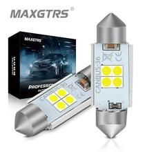2x carro festão c5w 3030 lâmpada led 28mm 31mm 36mm 39mm 41mm 44mm canbus nenhum erro carro conduziu a lâmpada interior dome mapa luzes de leitura