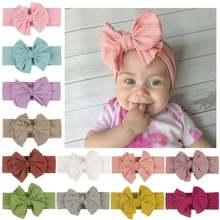 36 шт/лот детская однотонная вязаная повязка на голову для девочек
