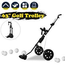 Golf trolley Professional Folding Golf Bag Trolley Outdoor Sports Multifunctional Range supplies foldable push pull golf cart