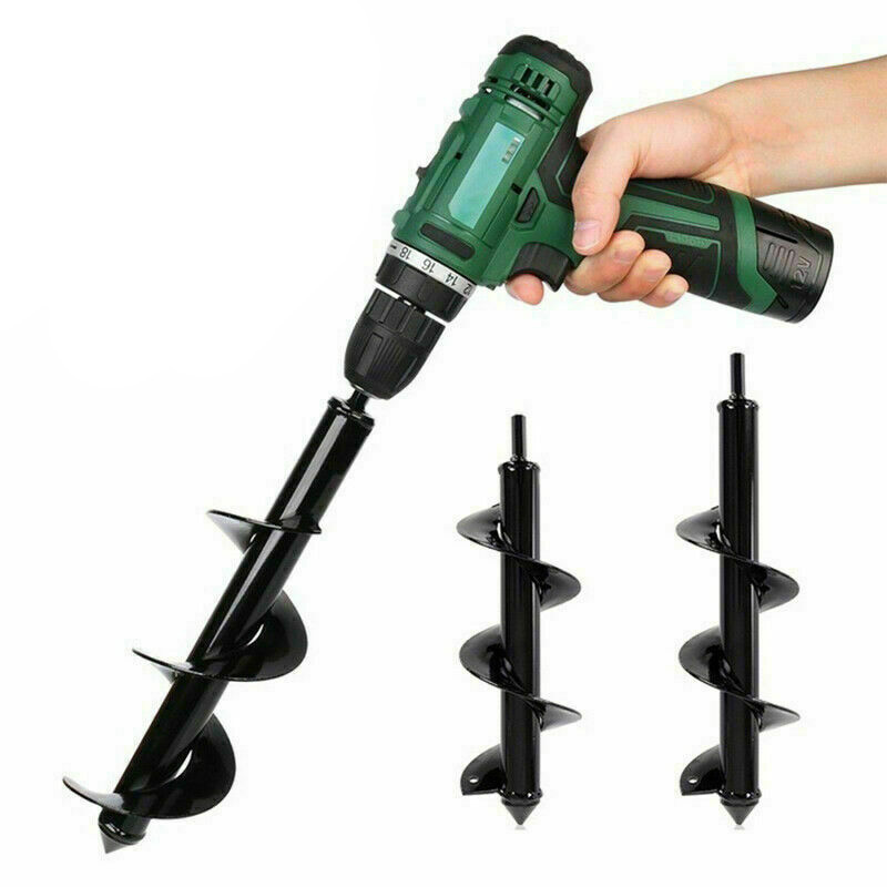Garden Auger Spiral Drill Bit Tool  Flower Planter Bulb Shaft Drill Auger Yard Gardening Bedding Planting Hole Digger Tool