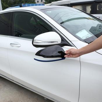 2 sztuk niebieska krawędź czarny ABS All Inclusive zewnętrzne lusterko wsteczne lustro pokrywa tapicerka dla Mercedes Benz nowy C E klasa S GLC klasa Accessor tanie i dobre opinie SCOORCAR CN (pochodzenie) OC04113-80 Plastic
