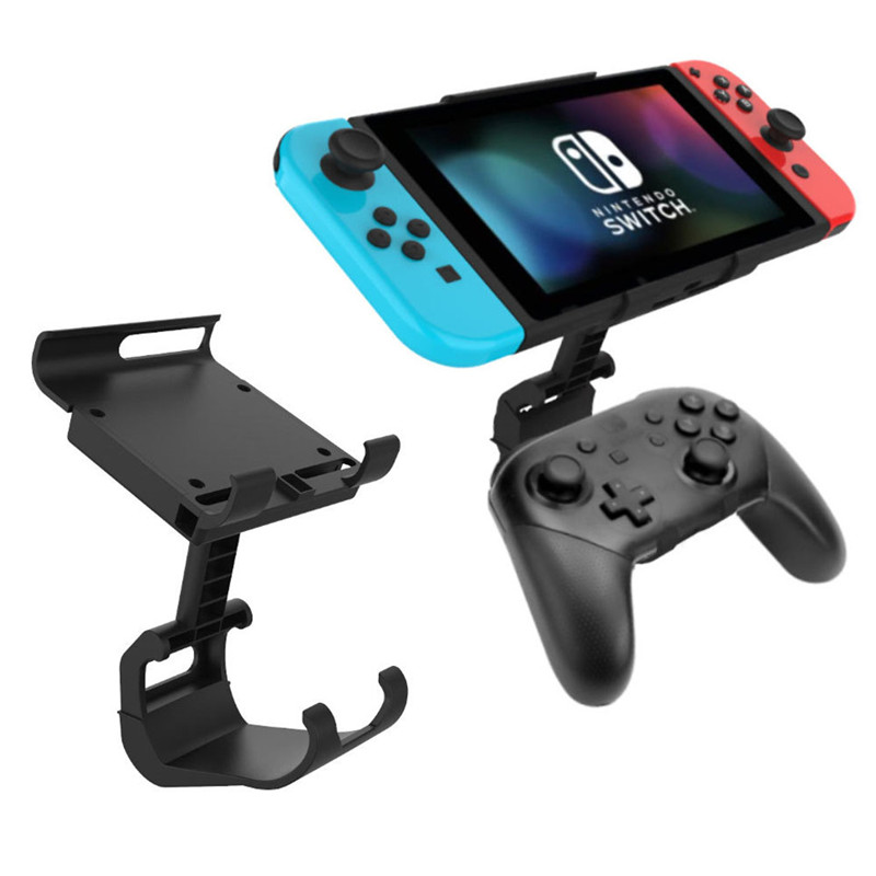 Nintend Switch Console Stand Cradle Bracket Game Clip Clamp Holder For Nintendo Switch Pro Controller Support Ajustable Angle