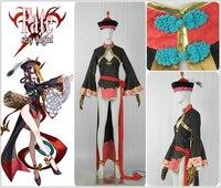 FGO Fate/Grand Order Shuten douji zombie Cosplay Costume Custom Girls' Women Sexy cheongsam Girl High Low Chinese Dress Hat