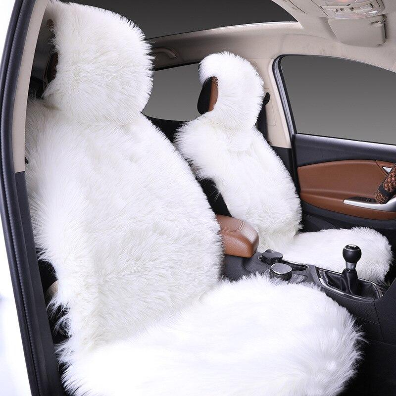 Langtaosha Automobile siège coussin fournitures hiver laine velours dossier fourrure trois pièces ensemble unique fabricants au nom