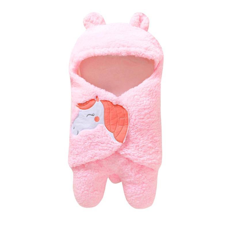 Delicate Design Personality Warm Plush Swaddle Especially Creative Wrap Newborn Baby Envelopes Infant Baby Sleeping Bag