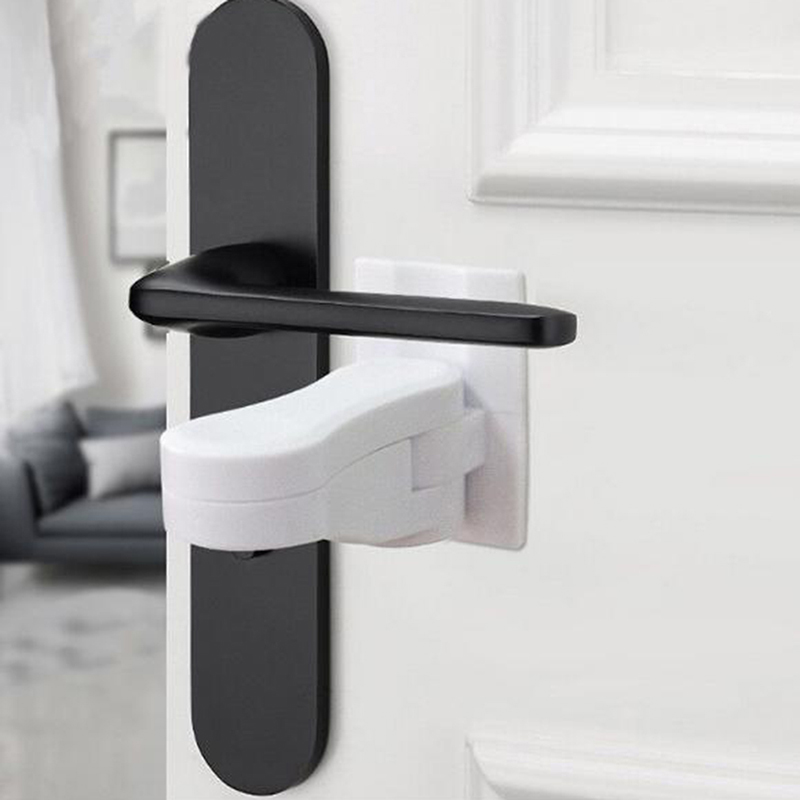 Hot Sale Plastic Child Safe Security Window Door Sash Lock Safety Lever Handle Sweep Latch Hardware Locks