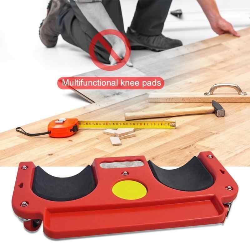 Rolling Lutut Perlindungan Pad Roda Dibangun Di Busa Empuk Meletakkan Menjalar Platform Universal Multi-Fungsional Roda Berlutut Pad