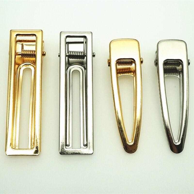 10 шт. золотые/Родиевые заколки для волос, модная квадратная заколка для волос, пустая основа для самостоятельного изготовления ювелирных из...