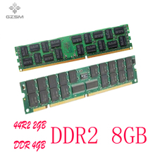 GZSM DDR2 2GB 4GB 8GB Server memory 533MHZ 667MHZ 800MHZ 1066MHZ Memory Cards For PC2-4200 5300 6400 8500 Memory RAM 240pin brand new ram ddr2 4gb 667mhz for notebook mobo support ddr 2 pc2 5300 sodimm ram lifetime warranty