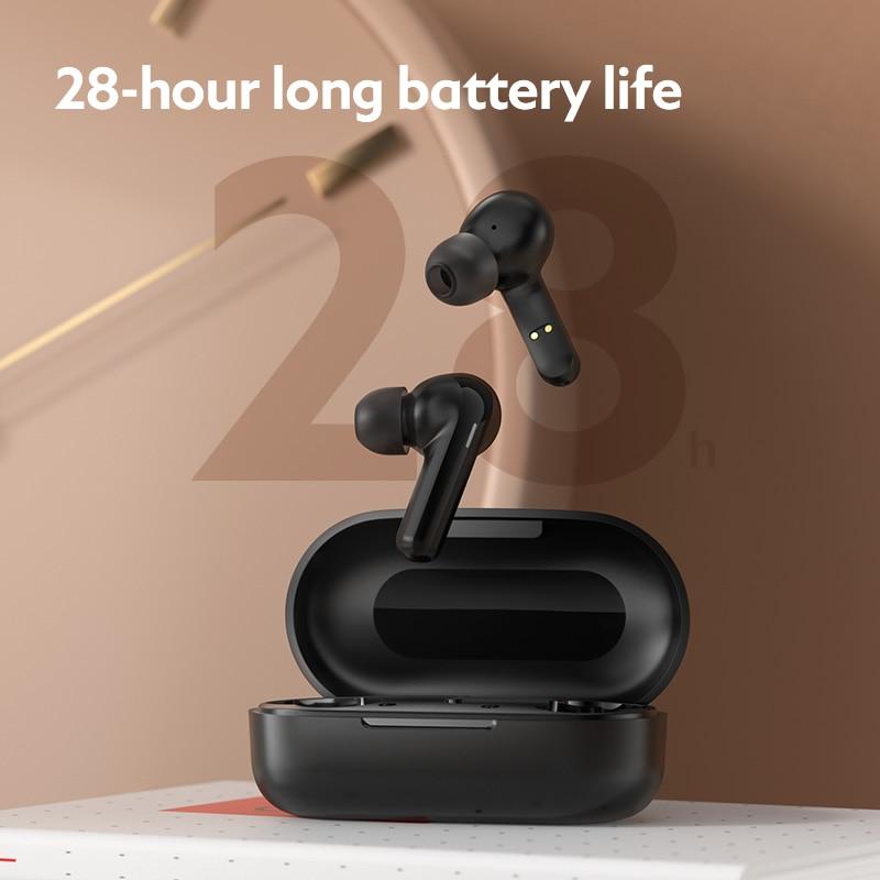 Беспроводные наушники с шумоподавлением DSP Lou haygt3 Bluetooth 5,0, время прослушивания музыки 28 часов, интеллектуальное сенсорное управление, игровые наушники 5