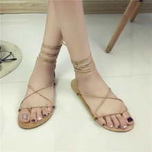 Flat Shoes Sandals for Women Shoe Woman Thin Strap Sandals Women Summer Shoes Woman New Peep Toe Shoe Zapatos Verano Mujer 2020 hee grand women boots for summer 2017 new solid zipper flat shoes woman split leather shoes woman sandals soft for mom xwz3957