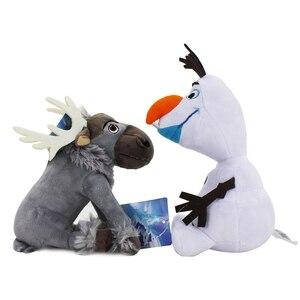 Image 4 - 20cm Disney Olaf dondurulmuş 2 peluş bebek küçük oyuncaklar Sven doldurulmuş hayvanlar figürleri koleksiyonu için çocuk doğum günü noel hediyesi