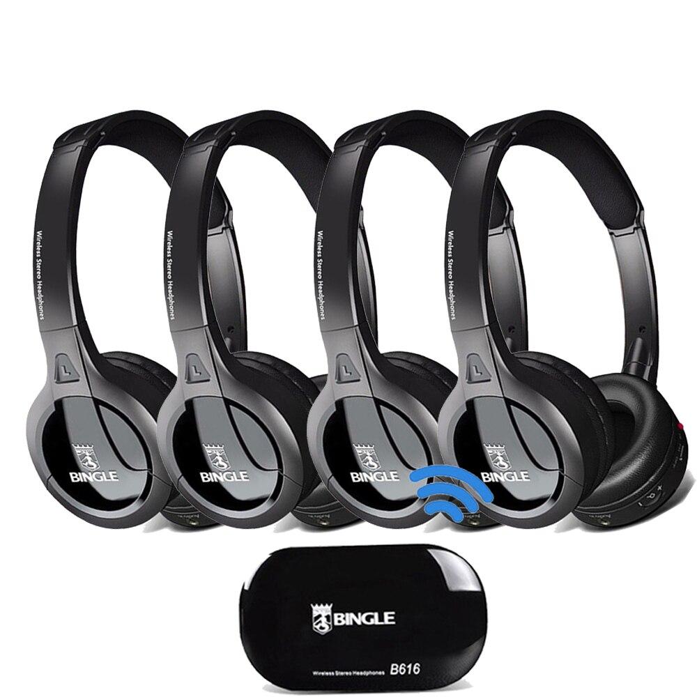 4 Pack 2.4G transmetteur sans fil Casque Audio casques universels Casque pour Samsung, LG, TCL, Xiaomi, Sony, Sharp, Levono, Honor TV