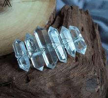 5 шт серебристая заколка для волос из синего кварца с двойной