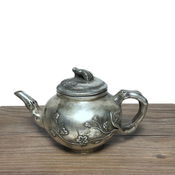LAOJUNLU Imitation Antique Plum Blossom Pot Copper Pot Teapot Hip Flask Decoration Gift Imitation Antique Bronze Collection