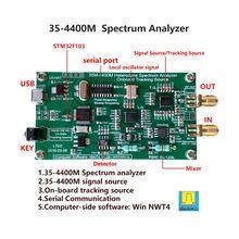 F19E LTDZ-35-4400M analizator widma źródło sygnału widma USB z modułem źródła śledzenia narzędzie do analizy domeny częstotliwości RF tanie tanio ANHTCzyx FPGA NONE CN (pochodzenie) Spectrum Analyzer RF frequency domain analysis tool PCB Board