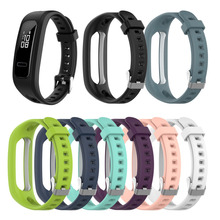 Silicone Replacement Watch Band Wrist Strap For Huawei Honor 4 Running/band 3E Wristwatch  Accessories Bracelet 1EW