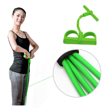4 Tubes Resistance Bands Elastic Latex Pedal Exerciser Women Men Sit Pull Rope Pilates Yoga Exercise Equipment Workout