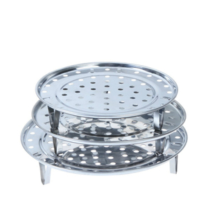 3Pcs Stainless Steel Kitchen Food Steamer Steaming Rack Multifunction Bowl Pot Steaming Tray Stand Basket Kitchen Accessories