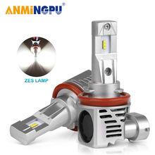 Anmingpu h11 светодиодные лампы для фар h8 h9 h4 h7 h1 Светодиодная