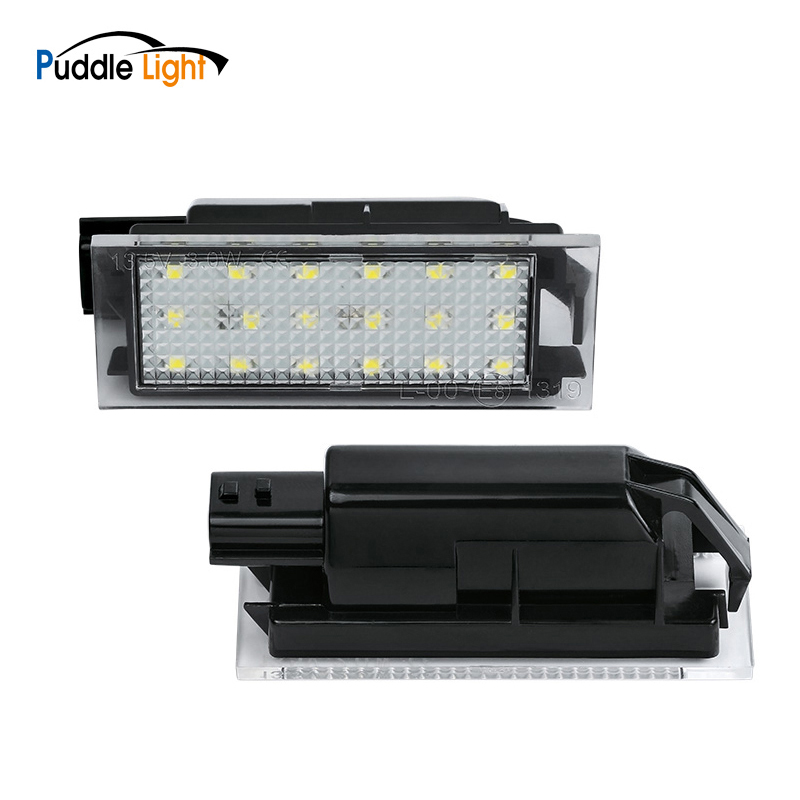 12V <font><b>LED</b></font> License Number Plate Light For <font><b>Renault</b></font> Trafic III Twingo 2 3 Espace Initial Laguna Coupe <font><b>Clio</b></font> Kadjar Twizyvel Satis image