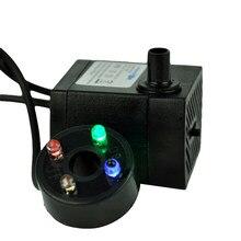 Potężna zatapialne pompa wodna z LED regulacja światła przepływ wody do fontann stawy akwarium Statuary