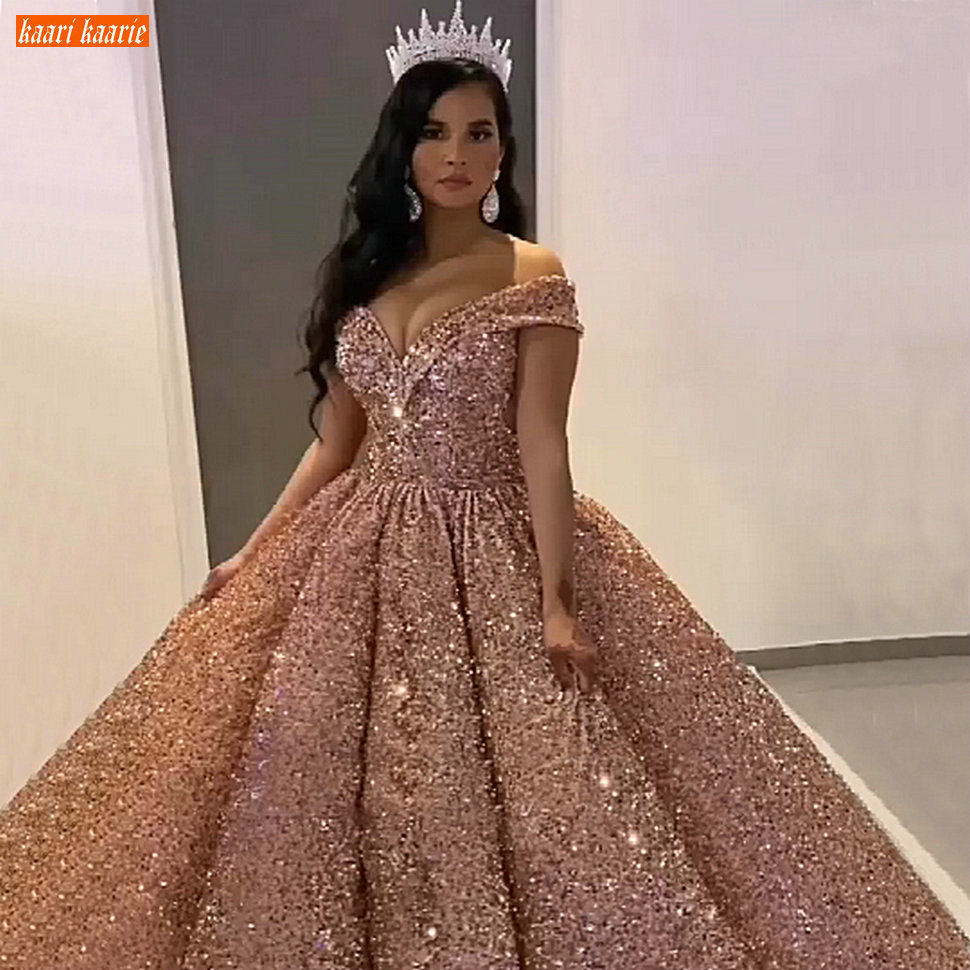 Dubai Sweetheart Burgundy Luxury Wedding Dresses 2020 Pageant Sparkly Sequined Arabic Bridal Gowns Custom Made Vestido De Noiva
