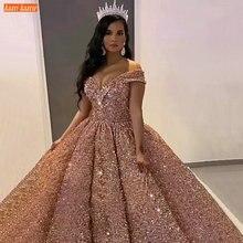 Dubai sevgiliye bordo lüks gelinlik 2020 yarışmasında Sparkly payetli arapça gelinlikler Custom Made Vestido De Noiva