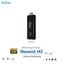 EZCAST H2 5G 4K Wireless TV stick antenna buildinside anycast miracast mirascreen Dongle 5G TV Stick