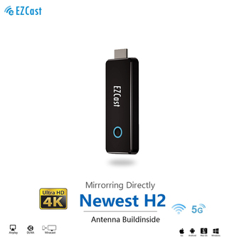 EZCAST H2 5G 4K sans fil TV bâton antenne intégré anycast miracast mirascreen Dongle 5G TV stick