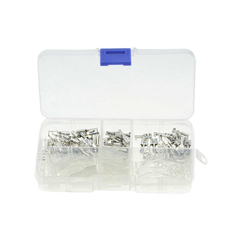 120PCS/box Silver Insulated Wire Connector Electrical Wire Crimp Terminals 2.8 4.8 6.3mm Spade Connectors Assortment Kit