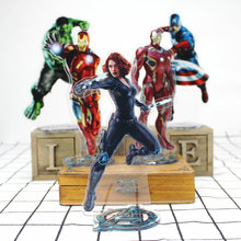 The Avengers Iron Man Spiderman Groot Captain America Captain Marvel Action Figure Toy Acrylic Decorative Ornaments Gift 2018 marvel amazing ultimate spiderman captain america iron man pvc action figure collectible model toy for kids children s toys