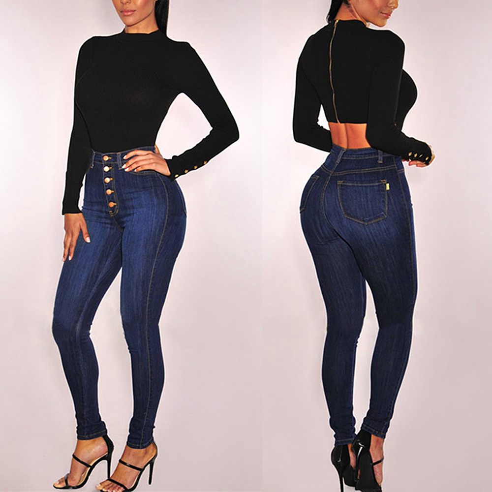 Jeans Woman  High Waist Jeans Sexy Slim Women's Jeans Sexy Slim Jean Korean Fashion Chic Pencil Skinny Jeans Women